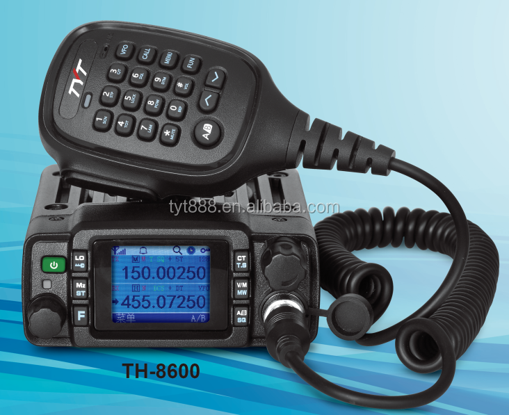 TYT 25/20W dual band mobile radio vhf uhf TH-8600 IP67 CTCSS/DCS DTMF 2/5tone 1750Hz tone