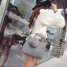 fur ball design cute design luxury hand bags for sexy ladies girl,trendy bags for girls