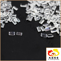Professional line step cut Baguette shaped natural crystal White Stones
