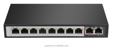 8+2 10/100Mbps PoE switch, 2 100Mbps uplink better than POE NVR for network cameras, IP phone and wireless AP