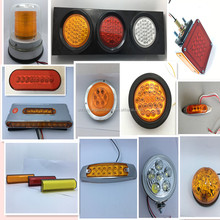 "4"" round led truck light stop/parking/turn signals/marker/clearance light/tail/back -up lightsfor heavy duty car"