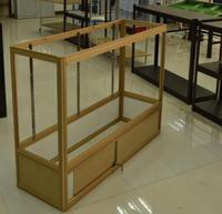 Best selling Foldable Frame glass jewelry display cabinet for jewelry shop decoration