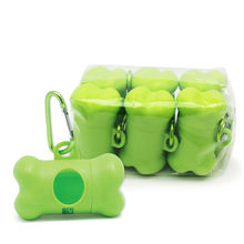 Promotional custom Biodegradable plastic pet dog poop bag dog waste bag dispenser