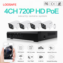 4 Channel H.264 NVR POE HD 720P CCTV IP Cameras Kits, 4CH Home Video Surveillance Cameras System