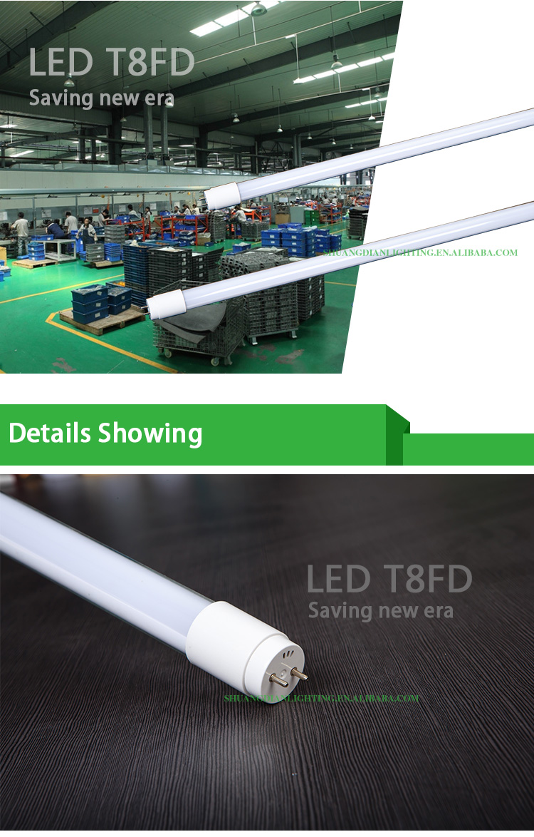 High brightness aluminum 1200mm t8 led tube 85-265v 18w SMD2835 t8 tube