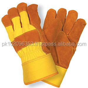 Low Price Cow Split Leather Working Gloves Cow Split Leather Safety Gloves Double Palm AB Class Working Gloves Safety Working