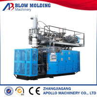 Bottle Application and PE Plastic Processed double station extrusion blow moulding machine