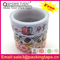 low tack printed sticky tape,handmade writable paper tape with free samples offer