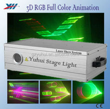 1000mW 3D Laser Light RGB Full Color Animation For Disco Clubs Stage Show
