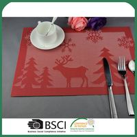 Factory Supply attractive style colorful coffee cafe pvc kitchen table place mats placemats with many colors