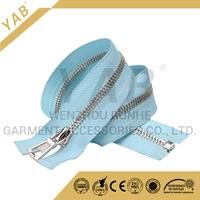 Zipper factory wholesale customized length #5 metal zipper chain for sale