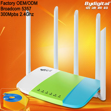 Bydigital 2.4Ghz 300Mpbs wifi router with 5pcs 5 Dbi high gain antenna