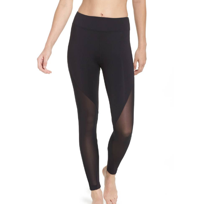 Wholesale women high waist pants custom compression tight pants with mesh