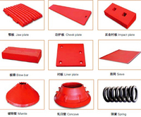 100%HOT SALE all kinds of blow bar for Crusher wear parts spare part jaw plate concave for cone crusher