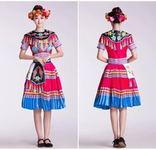 Women's Hmong Style Good Material Short Sleeves Blouse And Long Skirts Silicone