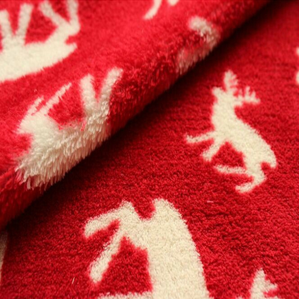 100% polyester Christmas printed coral fleece blanket