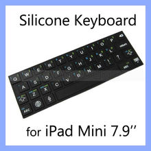 Stick-on Waterproof Silicone Keyboard for iPad Mini