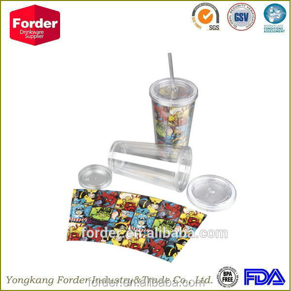 16OZ acrylic tumbler with removable PVC insert wholesale