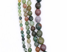 AAA grade natural loose gemstone beads strand indian agate stone bead round