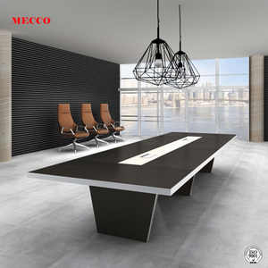Modern luxury office conference room furniture boardroom Table 20 person table wooden meeting table with aluminum edge