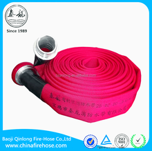"Qinlong 25bar-3"" PU lining fire hose,red color fire hose with coupling"