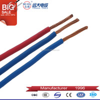 Fireproof Solid PVC Insulated 1.5mm 2.5mm 3mm Electrical Cable Wire