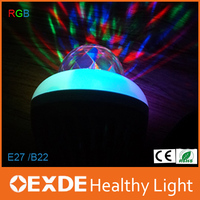 360degree auto rotation crystal lamp 3W holiday light DJ bar party RGB laser led bulb light