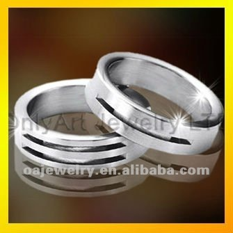 best selling cheap jewelry shop wedding couple titanium ring with top quality paypal acceptable