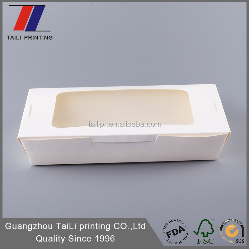 FDA SGS Certification biodegradable food packaging box with window,cardboard lunch boxes bento