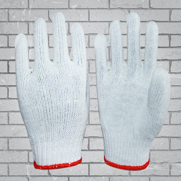 Cotton Knitted Hand Gloves cheap white cotton gloves