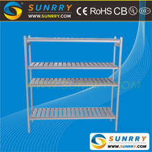 Good quality 4 layer supermarket and warehouse mobile metal shelving storage rack price