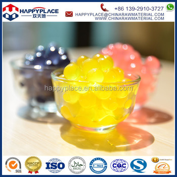 Mango Popping boba balls, Bubble Tea Ingredients Product Type popping boba fruit juice in popping balls