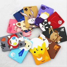 Advertising logo custom animal design rubber luggage tag soft pvc name tag travel hang tag