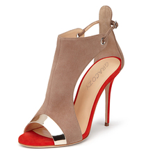 Ladies New Style Sexy High Heel Stiletto Shoes High Quality Women Peep Toe Evening Party High Heel Sandals