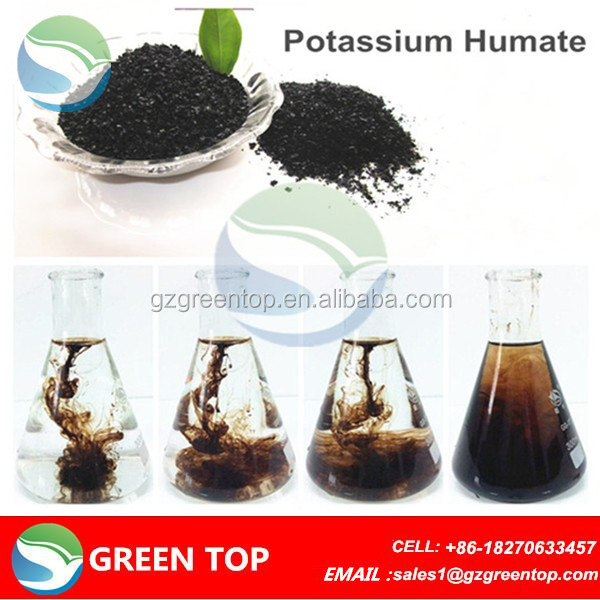 Organic humic acid and fulvic bulk soluble fertilizer for plants growth regulator