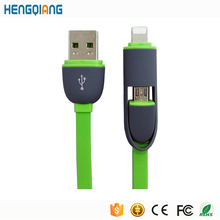 Data Charging Universal USB 2.0 Flat Design 2 in 1 Cable