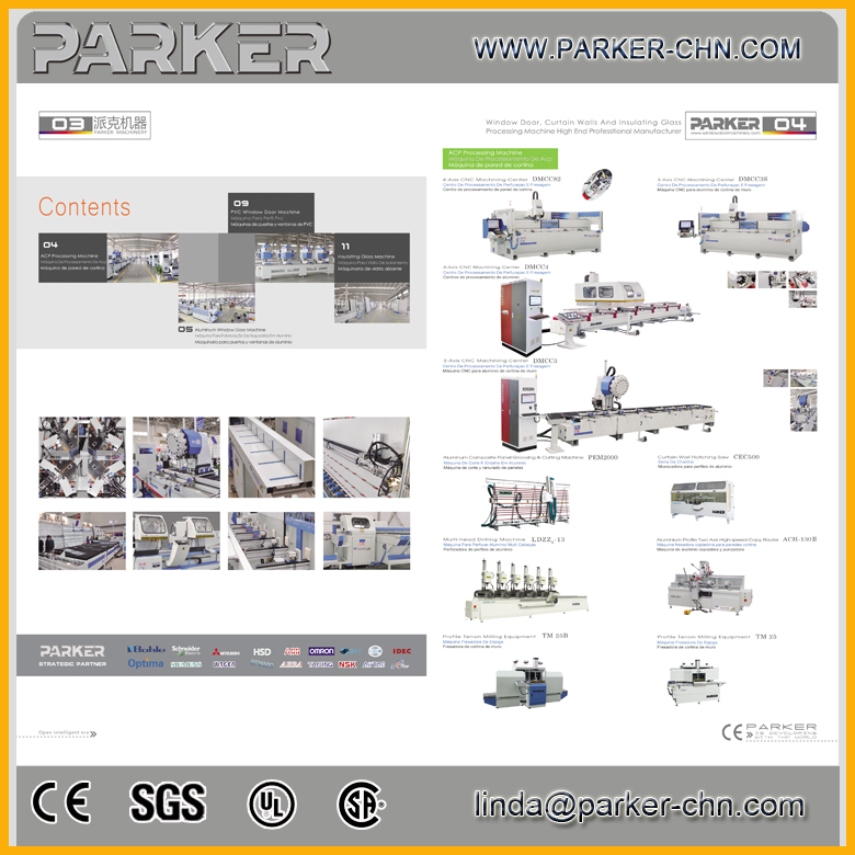 Aluminum Window Fabrication Equipment Corner Crimping