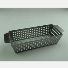 stainless steel vegetable grill basket with handle