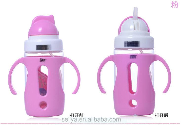 Medical grade plastic cute baby sippy cup for baby training
