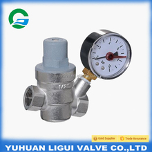 1/2 Forge brass water pressure reducing valve with pressure gauge/Pressure reducing valve use for water supply division system