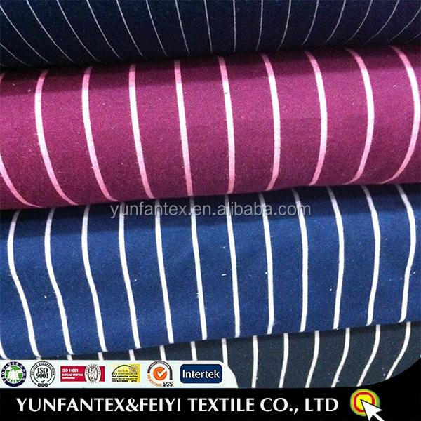 2016 latest design fashion soft Egyptian yarn dyed strpie cotton poplin stock fabric