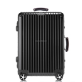 2016 Luggage factory aluminum frame luggage new arrival leather handle aluminum suitcase