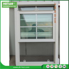PVC grills double hung window with window blind portable window shades