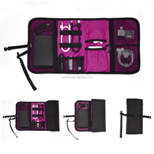 Waterproof Portable Roll up Folding Travel Cable Management Carry Bag for Various USB, Phone, Charger, Cable, Tools, Cosmetic