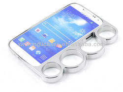 luxury chrome knuckle bumper case for samsung galaxy s4