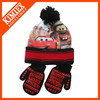 2014 New Designed Fashion Custom Sublimated Knitted Winter Winter Scarf, Hat & Glove Sets