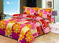 microfiber 100% polyester fabric brushed fabric with floral printing for bedsheet home textile/3D bed sheet fabric