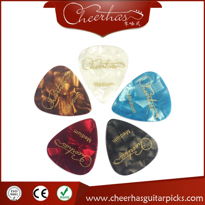 Varous Colors Celluloid Pearl Guitar Picks Custom Logo Silk Printing Guitar Picks