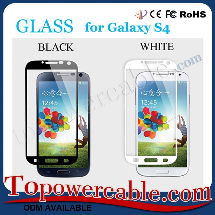 Premium Tempered Glass Film Screen Protector For Samsung Galaxy S4 Prime Black&White