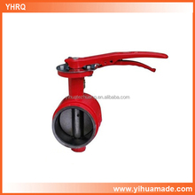 factory supply good quality carbon grooved butterfly valve